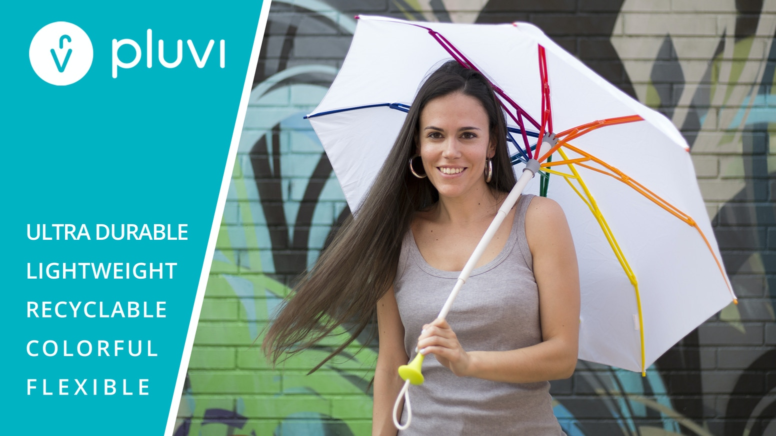A Trendy Umbrella for Outstanding People. Ultra Durable, Lightweight and Flexible with Italian Design and Patented Sustainable Innovation.