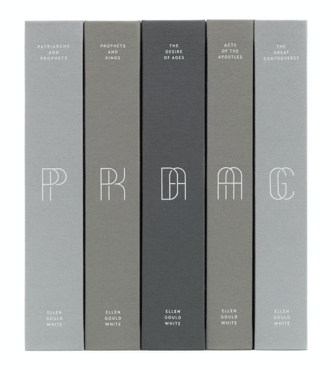 Five-Volume Set in the Grayscale Color Palette