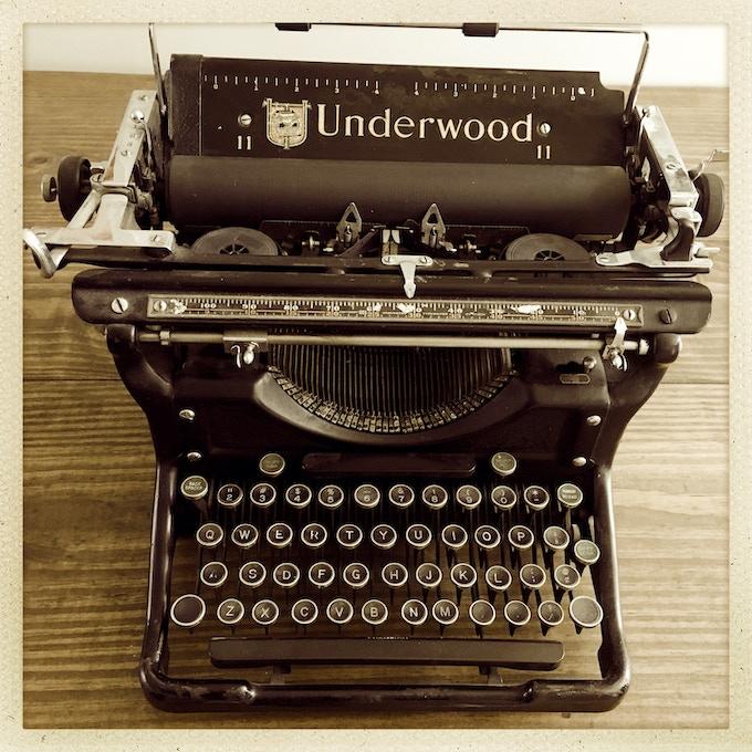 My beloved Underwood!