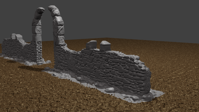 section one of a ruined courtyard, free to ALL pledge levels