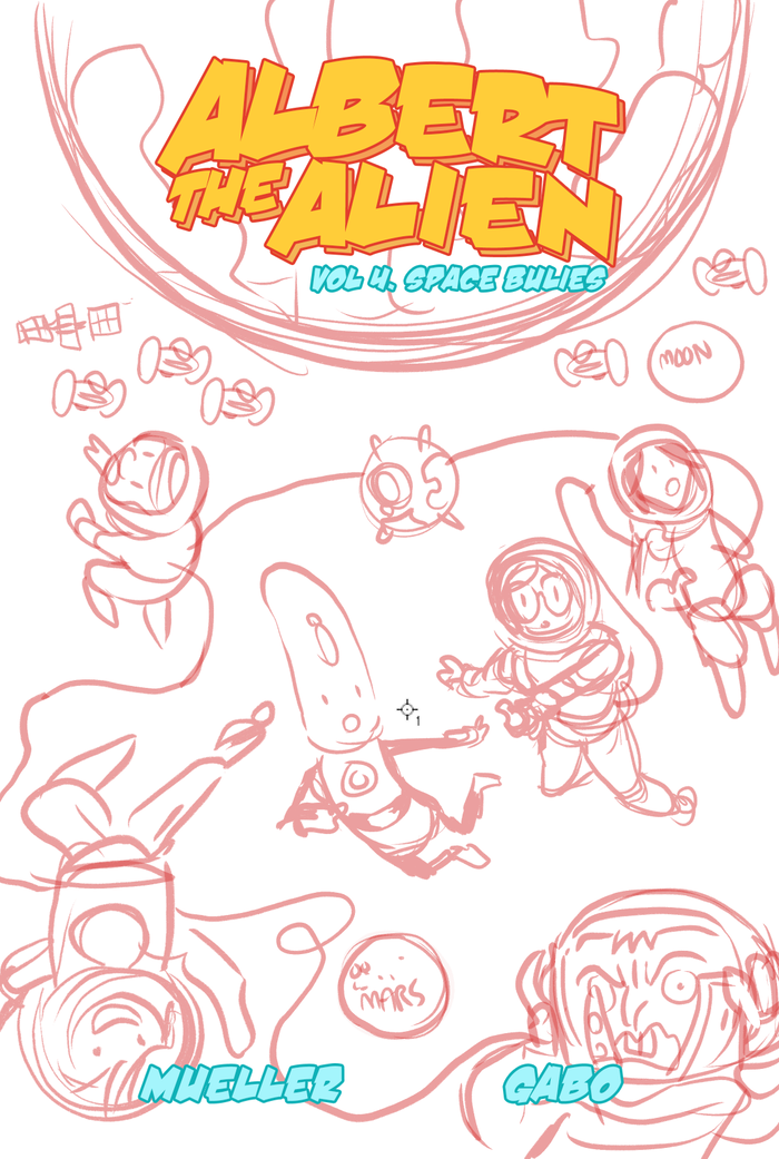 Volume 4 cover - roughs