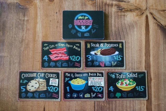 24 Meal cards, now larger size 100mm x 70mm. Look at that spread!