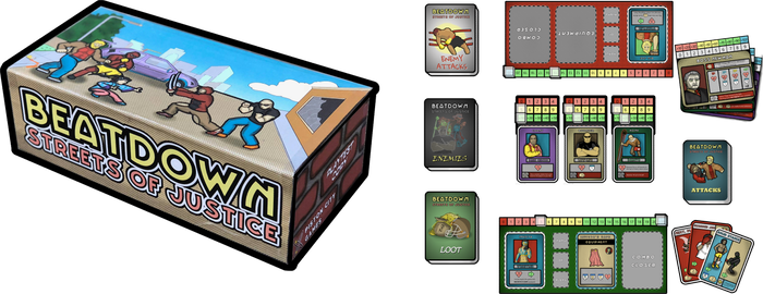 Cooperative 1-4 player card game with a comic-book theme and a combo building core.
