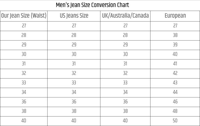 International Size Conversion Charts