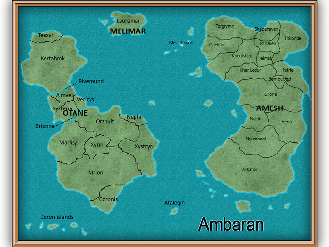 Ambaran  with Country Borders
