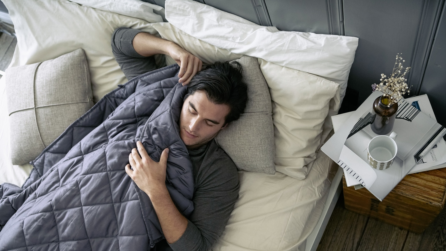 Reviv is a smart, eco-friendly weighted blanket that uses nanotechnology to help you chill like a panda.