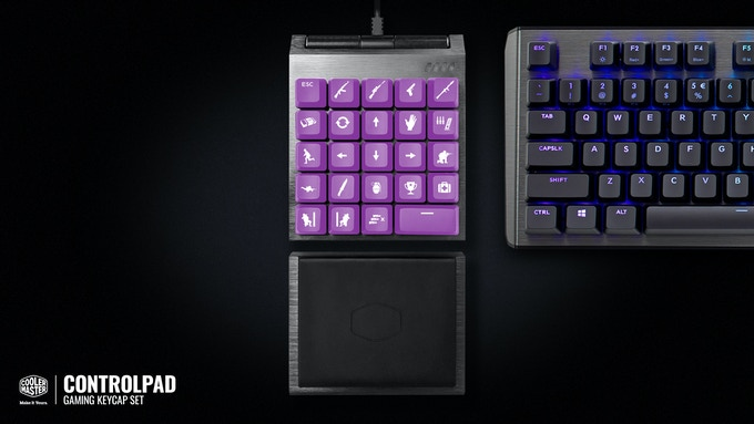 controlpad 24 keys with analog control technology by cooler master