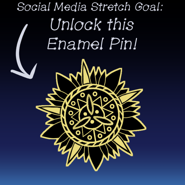 25 mm gold plated enamel pin