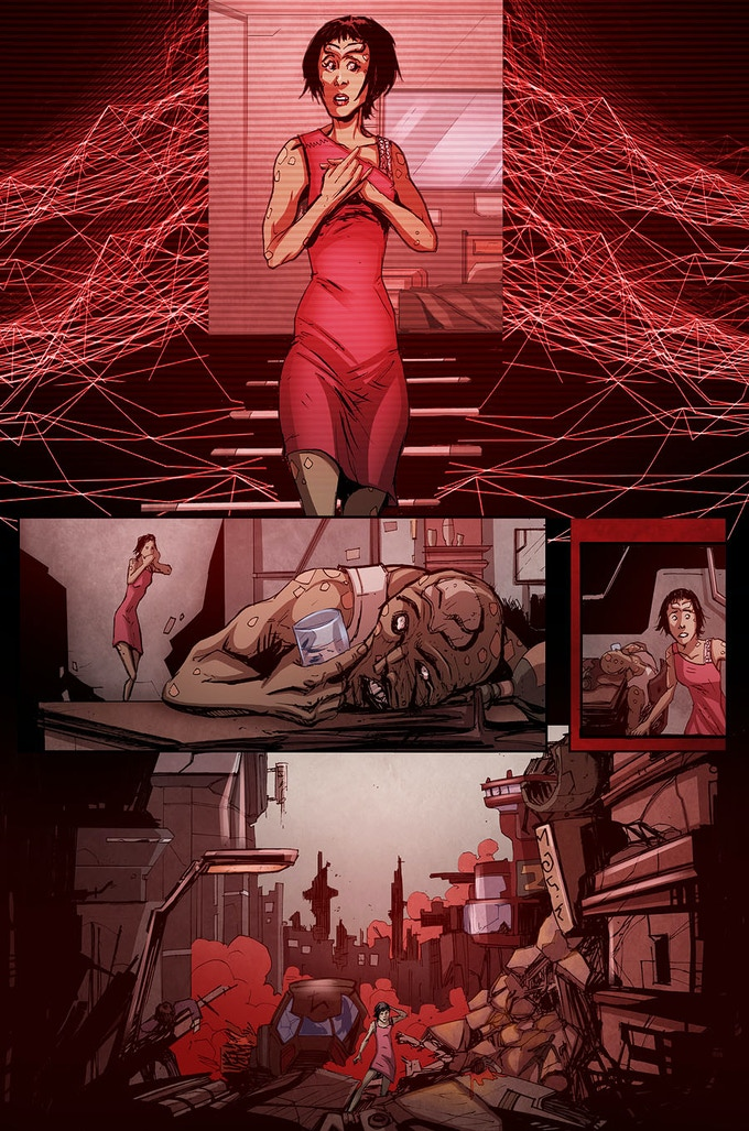 From 'Obsession': written by Neil Gibson and David Court, illustrated by Phil Buckenham, colours by Liezl Buenaventura