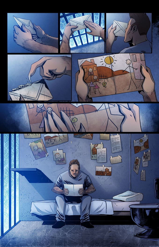 From 'No Recidivism': written by Neil Gibson, illustrated by Cem Iroz, colours by Liezl Buenaventura
