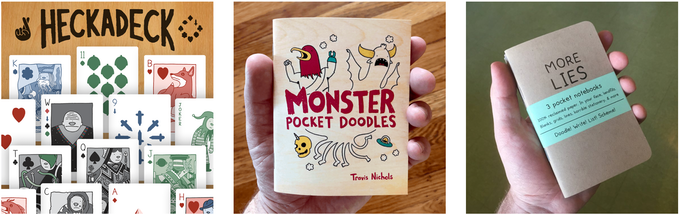 HECKADECKs and Monster Pocket Doodles and More Lies Pocket Books!
