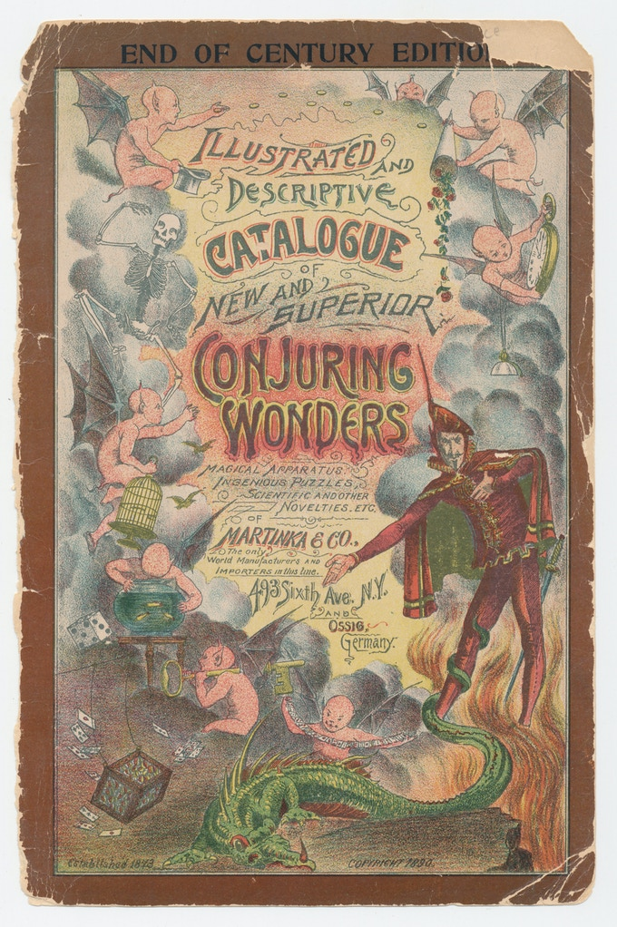 "Martinka & Co. was founded in 1873.  Here is their ""End Of Century Edition"" of the ""Conjuring Wonders"" catalog, 1899.  All 240+ pages will be reprinted in their entirety from this original, extremely rare catalog."