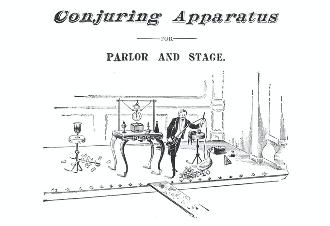 Martinka & Co.'s catalog header for stage and parlor equipment, 1899.