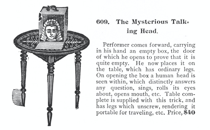 One of the many plates and engravings showing tricks of the trade that made it into early special effects films.