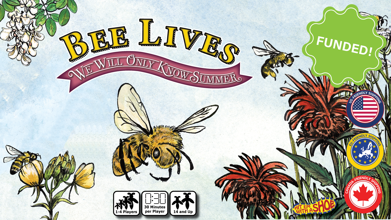 A board game about surviving as a wild bee hive.