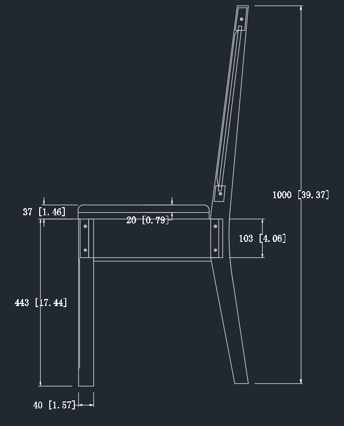 Chair Dimensions Side