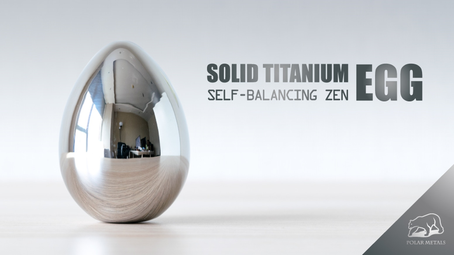 A balancing egg made of solid Ti6AL4V aerospace titanium! A great desk companion, social magnet and piece of art.