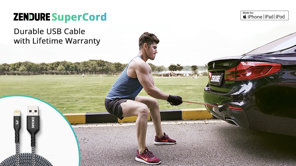 Zendure SuperCord: Durable USB Cable with Lifetime Warranty project video thumbnail