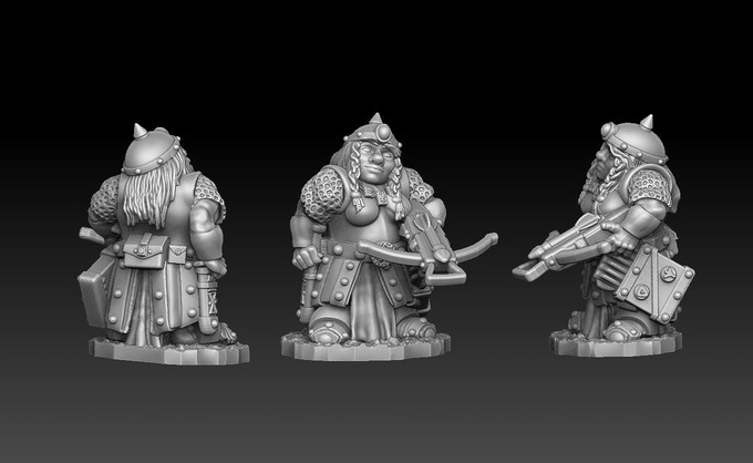 Female Dwarven Crossbowman