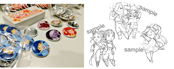 Physical Rewards include character pins & sticker sheet featuring cute art of the StarCrossed characters!