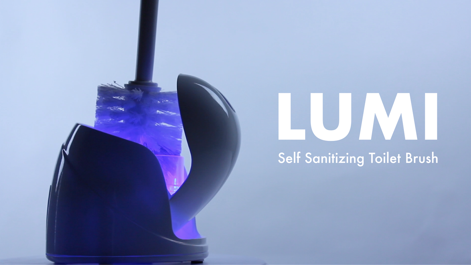 lumi self sanitizing toilet brush and base by lumi kickstarter