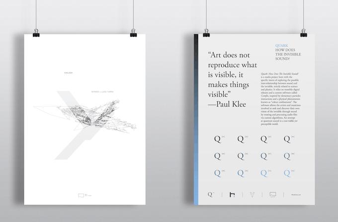 Poster (left): kailash • Poster (right): quark