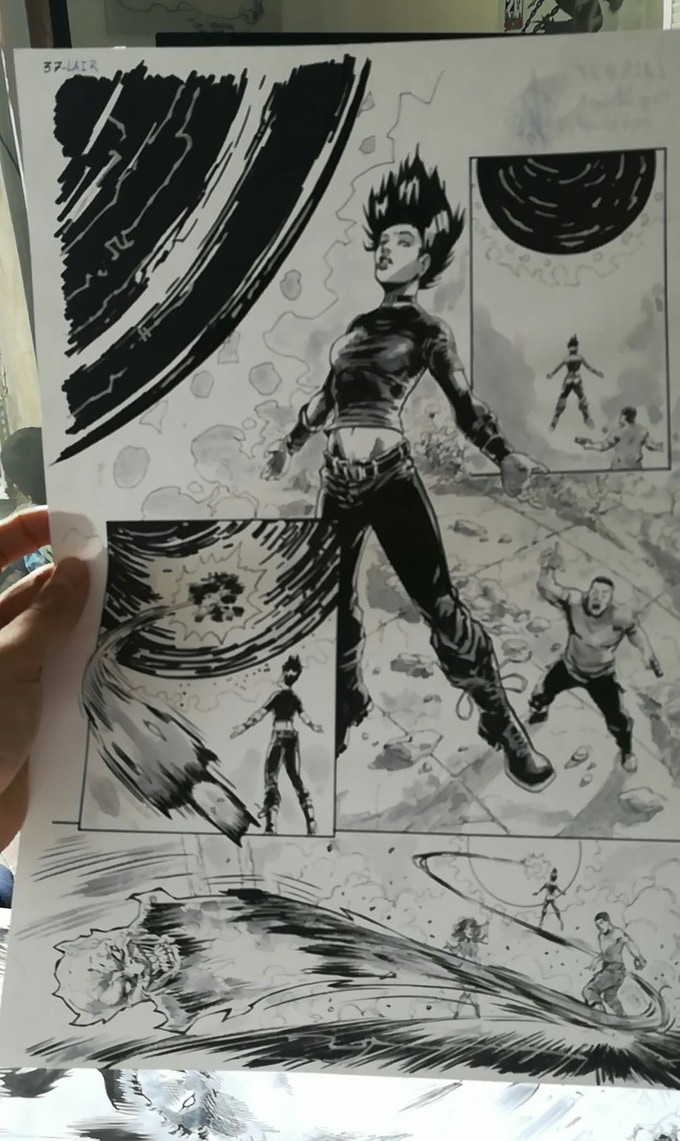 Original Art Page from LAIR (1)
