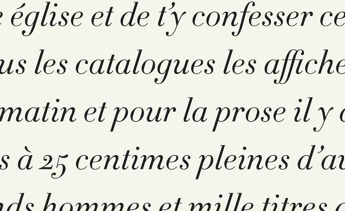 Détails typographiques