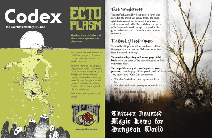 Pages from Codex - Ectoplasm. Illustration by Dirk Detweiler Leichty.