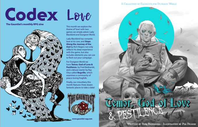 Pages from Codex - Love. Illustrations by Dirk Detweiler Leichty and Per Folmer.