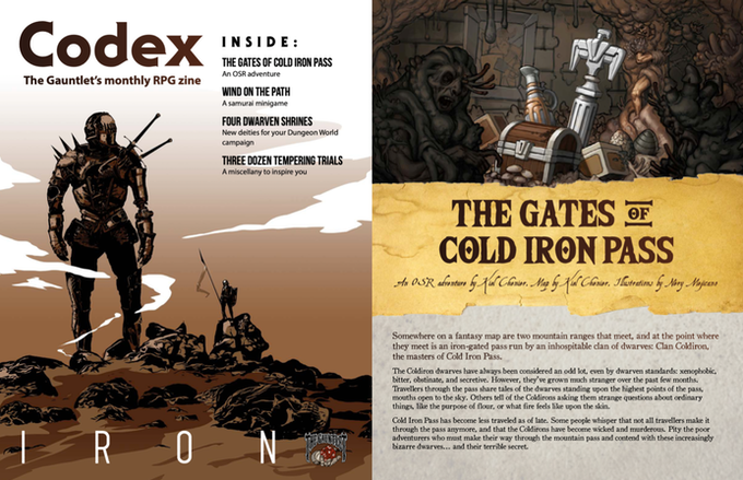 Pages from Codex - Iron. Illustrations by Vandel J. Arden and Nery Mejicano.