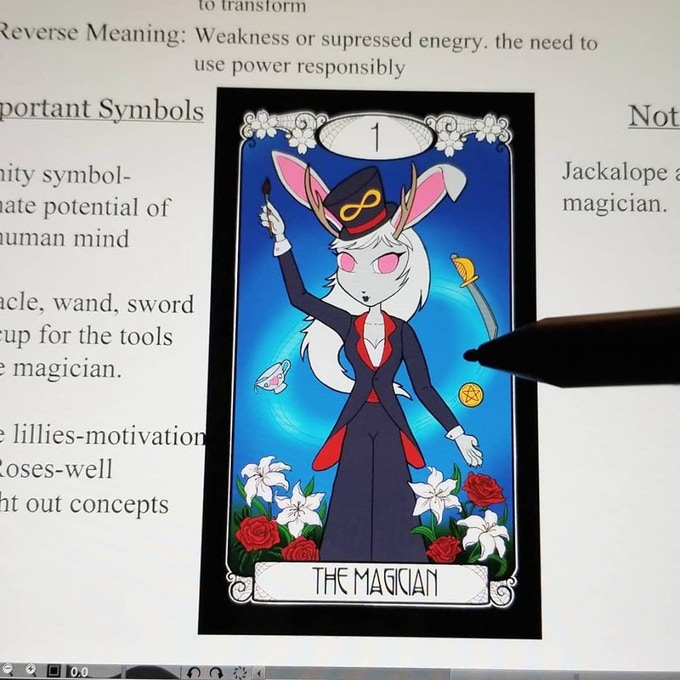 Learning to draw my Deck on my new touch screen with a new program.