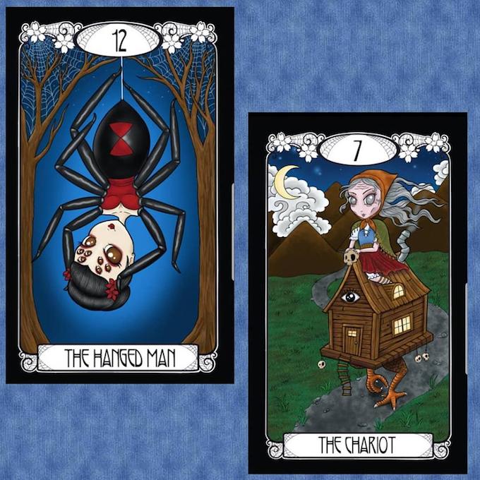 The Hanged Man (Jorogumo) & The Chariot (Baba Yaga)
