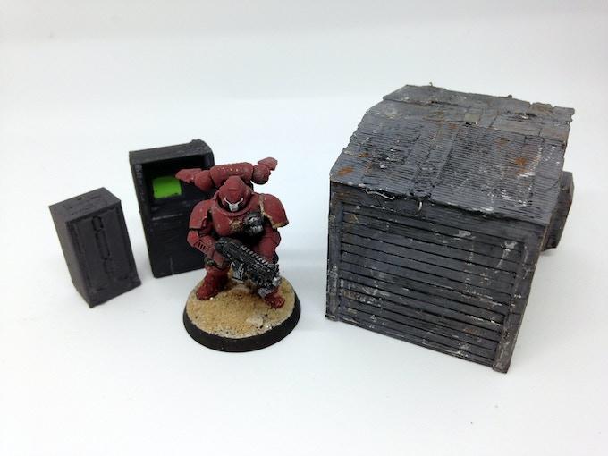 small vent, ATM and slum storage building
