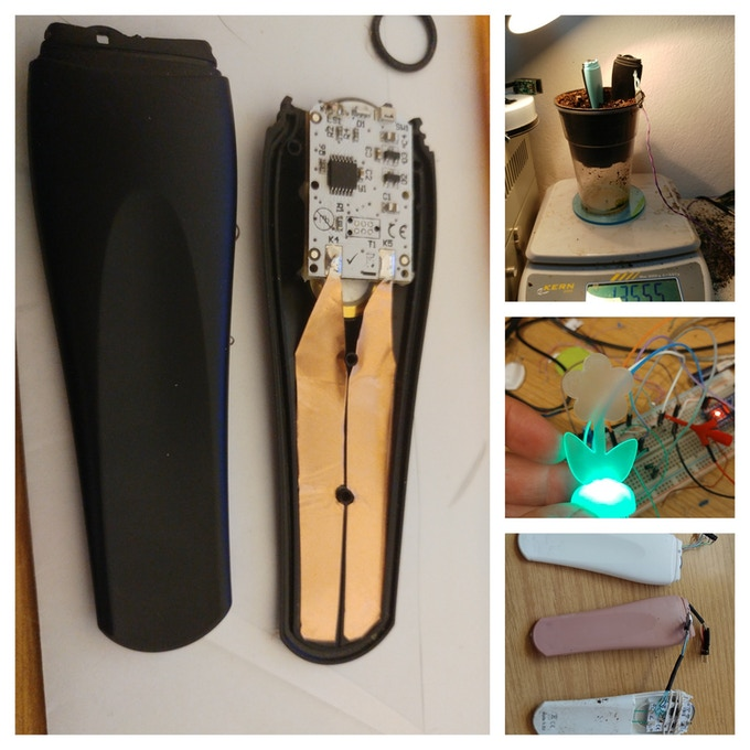 PlantRay development, prototypes, and evaluation of sensor moisture sensor
