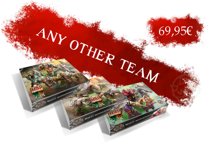 You can choose any of our teams:Amazons, Chaos, Chaos Dwarfs, Chaos Pact, Dead XXL, Draconians, Dwarfs, Egyptian, Goblins, Humans, Imperial Halflings, Lords of Corruption, Mythology, Necromantic, Ratmen, Ultimate Halflings, Undead, Vampires or Wood Elves