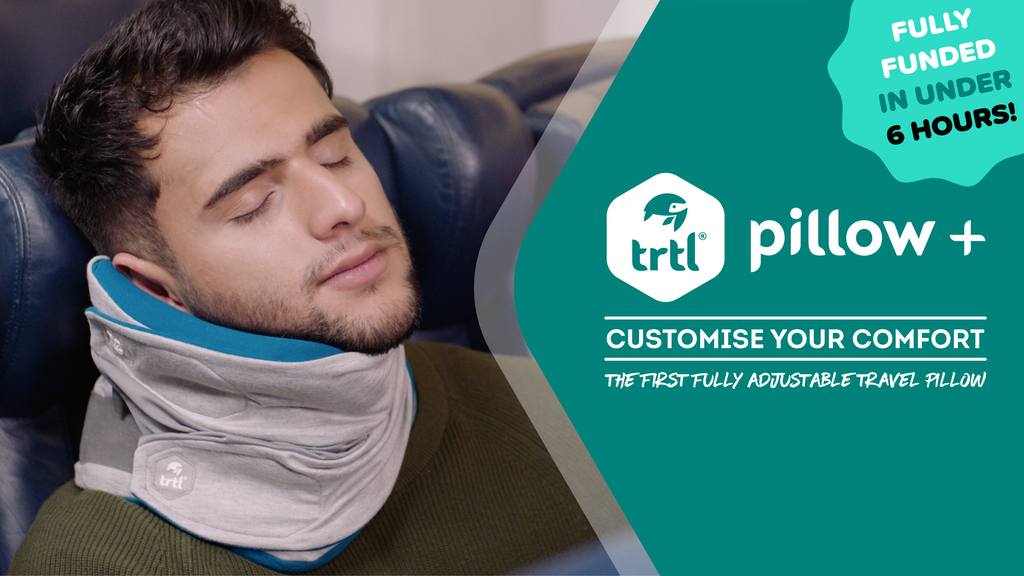 The First Fully Adjustable Travel Pillow - Trtl Pillow Plus project video thumbnail