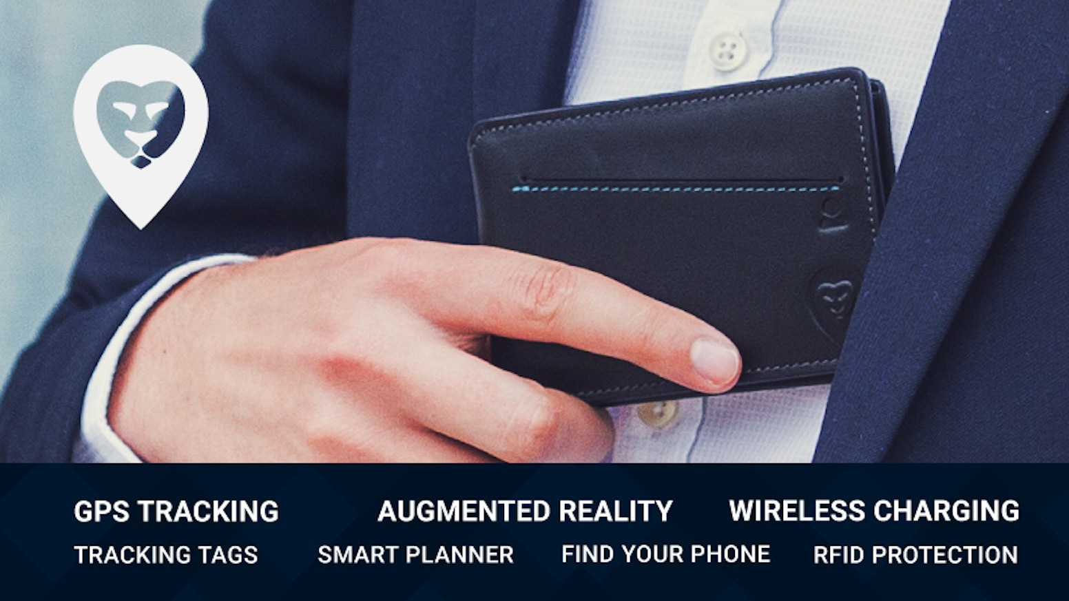 Wireless Phone Charging | Augmented Reality | Real Time Global GPS Tracking | Tracking Tags for All Valuables | Smart Planner | RFID