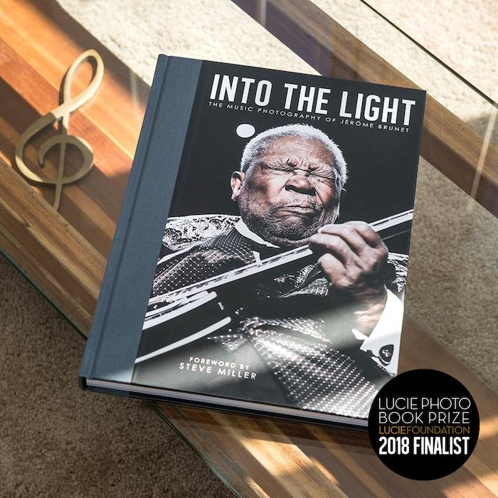 Twenty year retrospective coffee table book by award-winning music photographer Jérôme Brunet featuring a foreword by rock legend Steve Miller