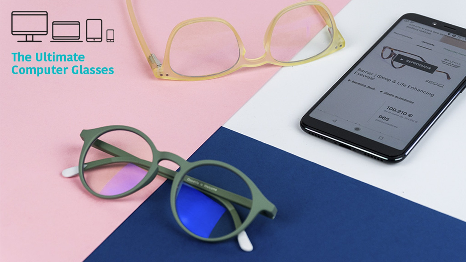 High quality eyewear to protect your eyes from Blue Light providing you a better sleep and a healthier life.