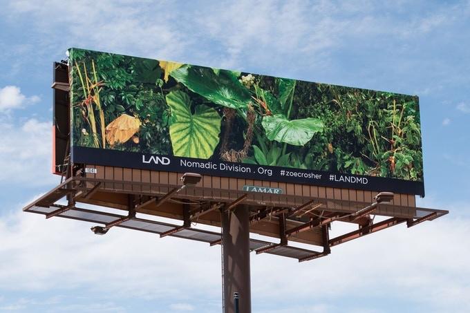 Manifest Destiny Billboard Project, across Route 10, 2015
