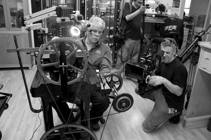 Director of Photography Ben Wolf films American watchmaker Roland Murphy.