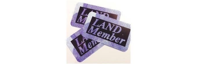 LAND Membership Cards designed by Brendan Fowler