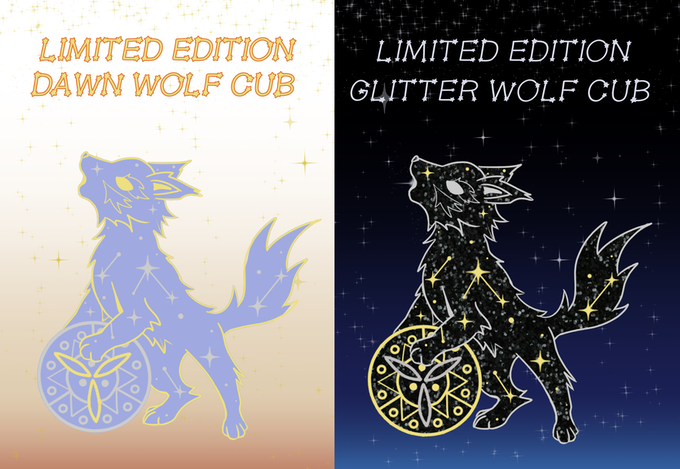 Dawn and Glitter Wolf Cub KS Exclusive Variants