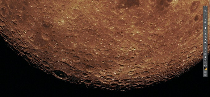 MOONDETAILS. PICTURE TAKEN BY APOLLO 17!