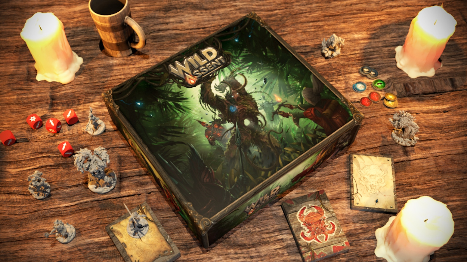 A 1-4 player board game with solo/cooperative and PvP game modes, beautiful miniatures and thrilling gameplay.