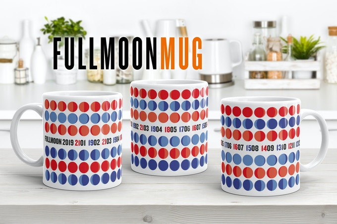 OUR FULLMOON MUG! ALL FULLMOON DATA EVERY MONTH OVER THE YEAR ON ONE VIEW!