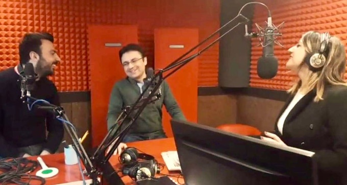 Clemente Cipresso and Arturo Verde explain the project at italian radio show.