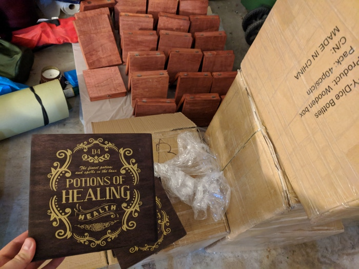 Pre-stained boxes from China