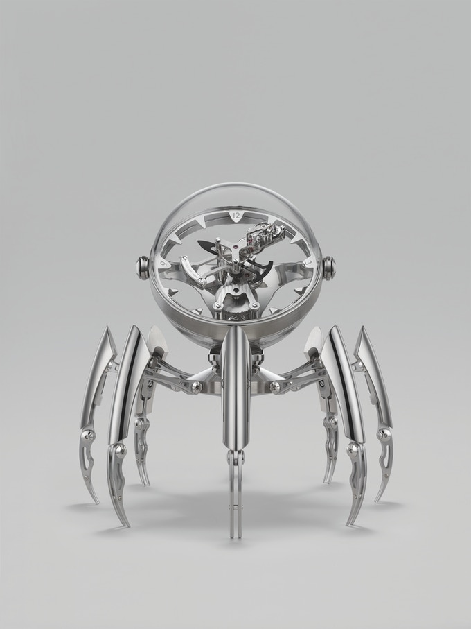 "MB&F and L'Epée's ""Octopod."" An eight-day clock inspired by cephalopods, marine chronometers and ""The Abyss."""